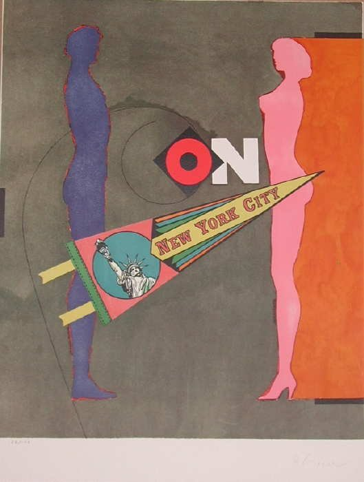 310: Richard Lindner, On, Stone Lithograph