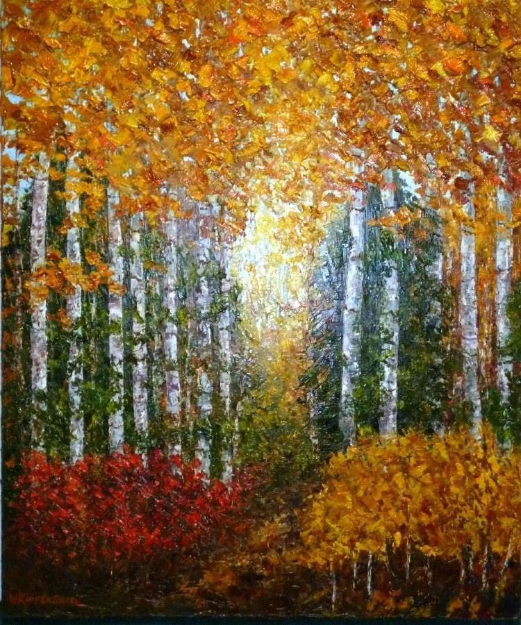 Wanda Kippenbrock, Aspen Country, Oil on Canvas
