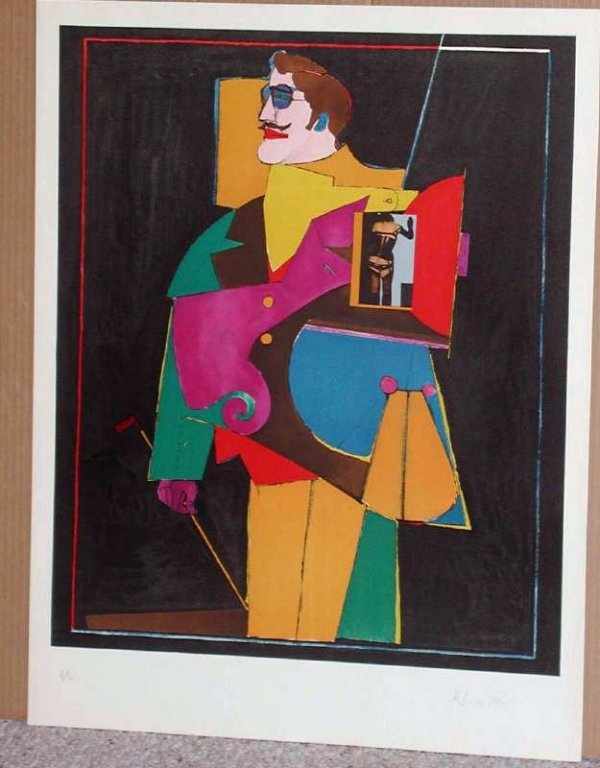 518: Richard Lindner, Heart, Stone Lithograph