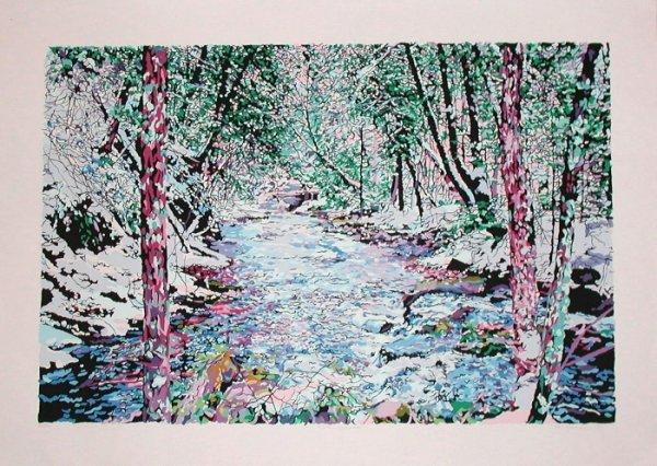 563: Frederick Nicols, Winter Cascades, Original Serig