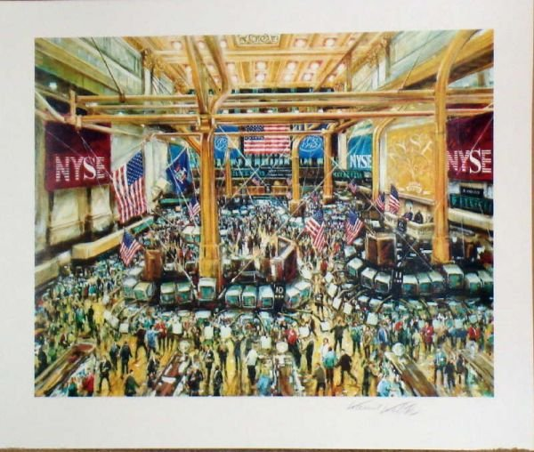 503: Kamil Kubik, Floor of the NYSE, Signed Serigrap