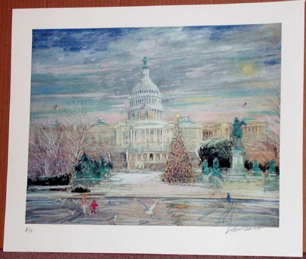 506: Kamil Kubik,  The Capitol, Signed Serigraph