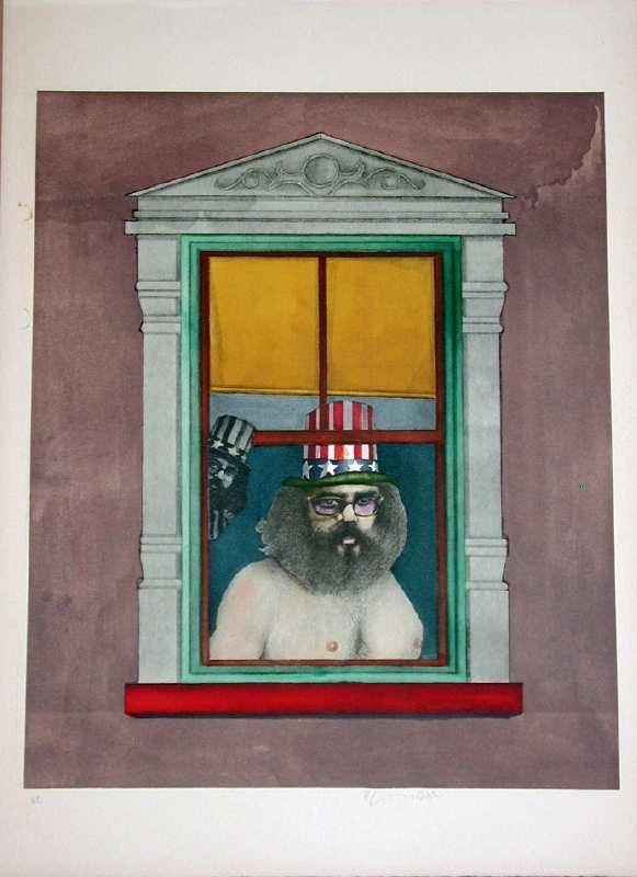520: Richard Lindner, Poet, Signed Lithograph
