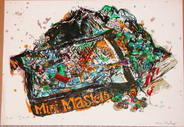 560: Malcolm Morley, Arles, Signed Lithograph
