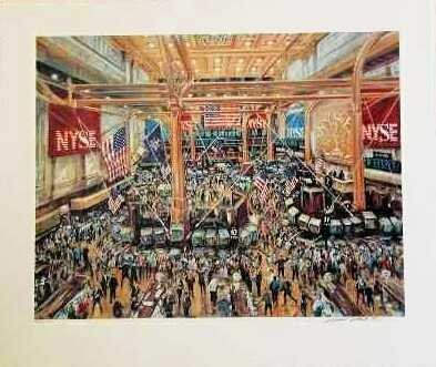308: Kamil Kubik, The Floor of the NYSE Signed Serigrap