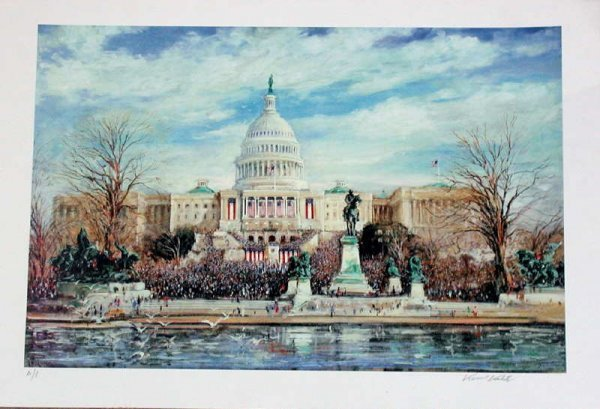 310: Kamil Kubik, The Inauguration, Signed Serigraph