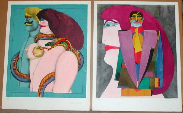 322: Richard Lindner, After Noon, Portfolio of 8 Lithog
