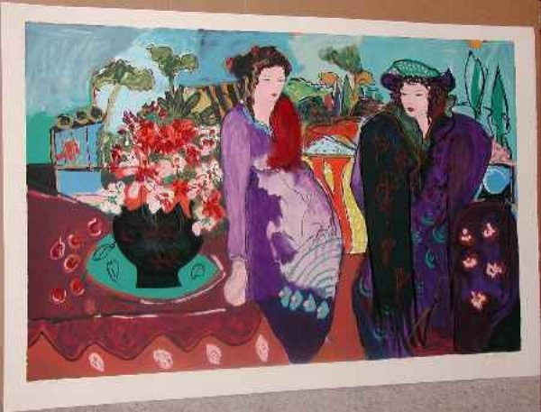700: Bracha Guy, Meeting Katherine, Signed Serigraph""