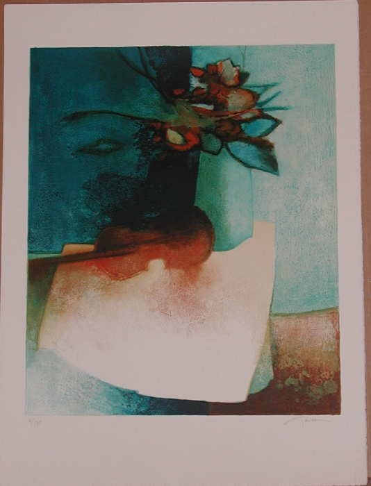 722: Claude Gaveau, Violin, Signed Lithograph