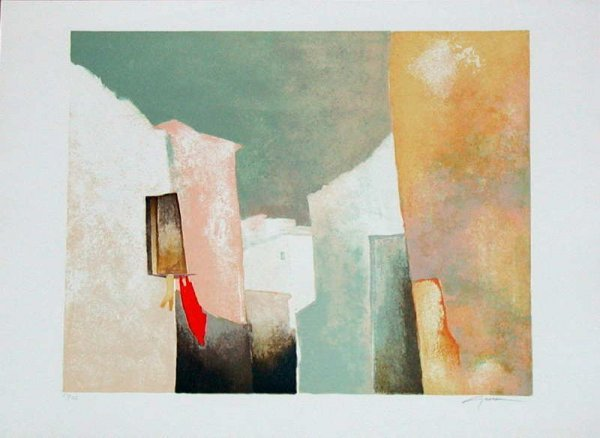 723: Claude Gaveau, Open Window, Signed Lithograph""