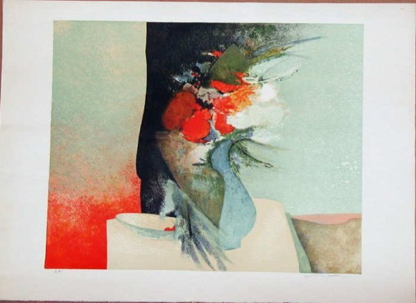 724: Claude Gaveau, Cherries, Signed Lithograph""