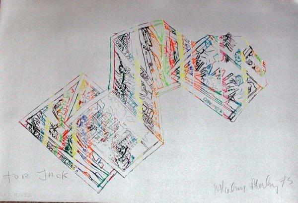 3: Malcolm Morley, Miami Silver, Signed Lithograph