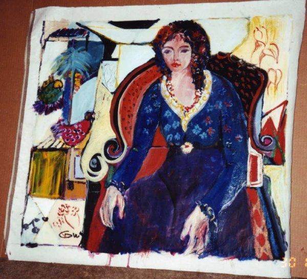 21: Bracha Guy, Samantha, Signed Oil on Canvas