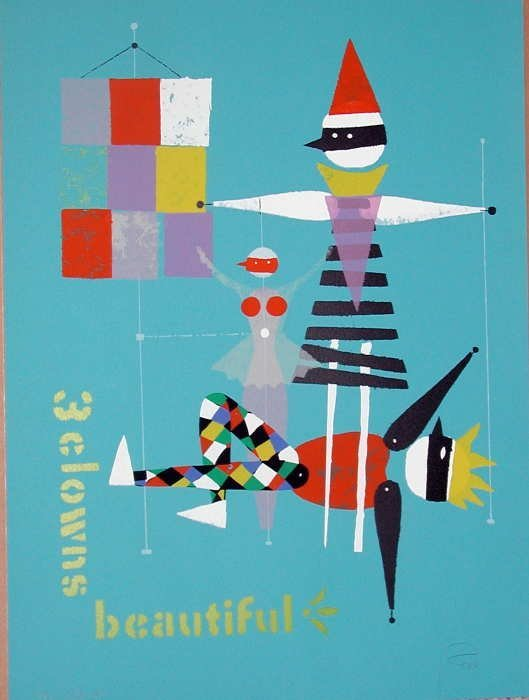 925: Wolfgang Roth, 3 Clowns, Signed Lithograph