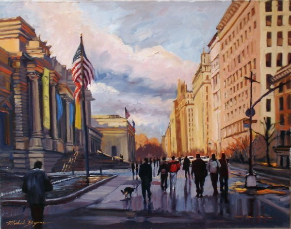 Michele Byrne, Off to the Met, Oil on Canvas
