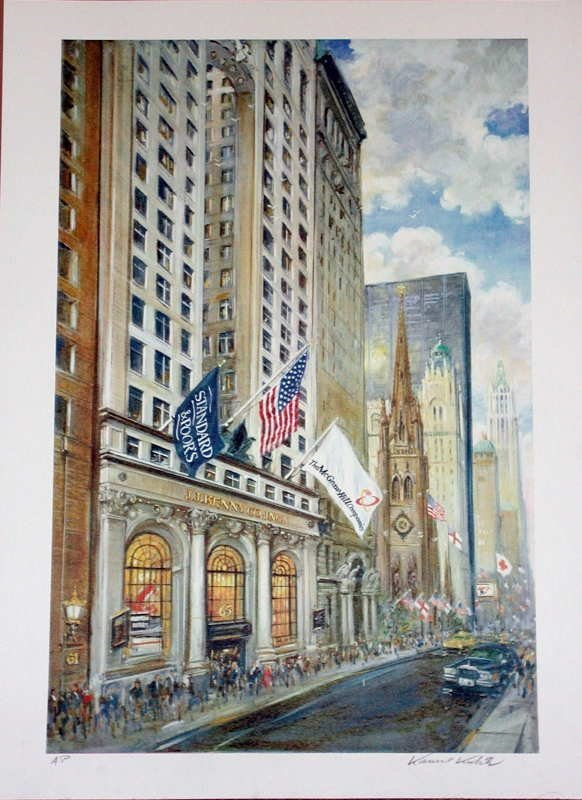 507: Kamil Kubik, Trinity Church, Signed Serigraph
