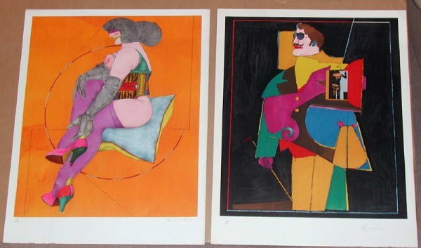 515: Richard Lindner, After Noon, Portfolio of 8 Lithog