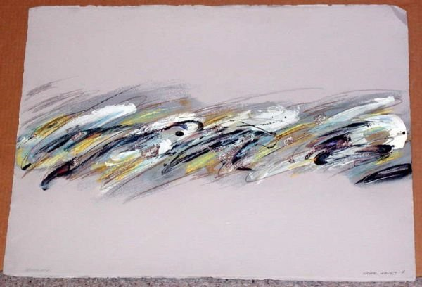 916: Joyce Rezendes, Silver Waves, Signed Painting