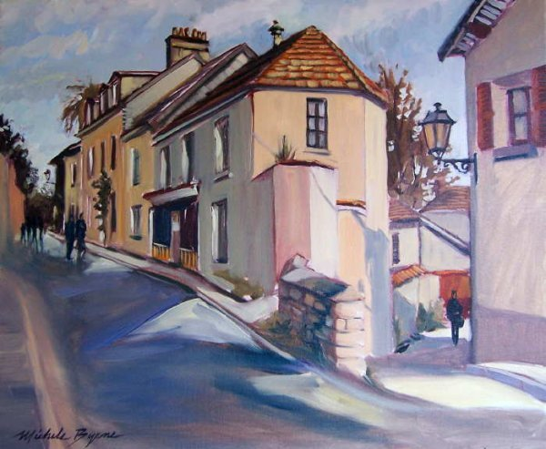 753B: Michele Byrne, Quiet Streets in Auvers, Oil on Ca
