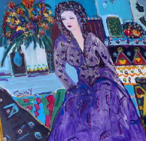 852: Bracha Guy, Sarina, Signed Oil on Canvas