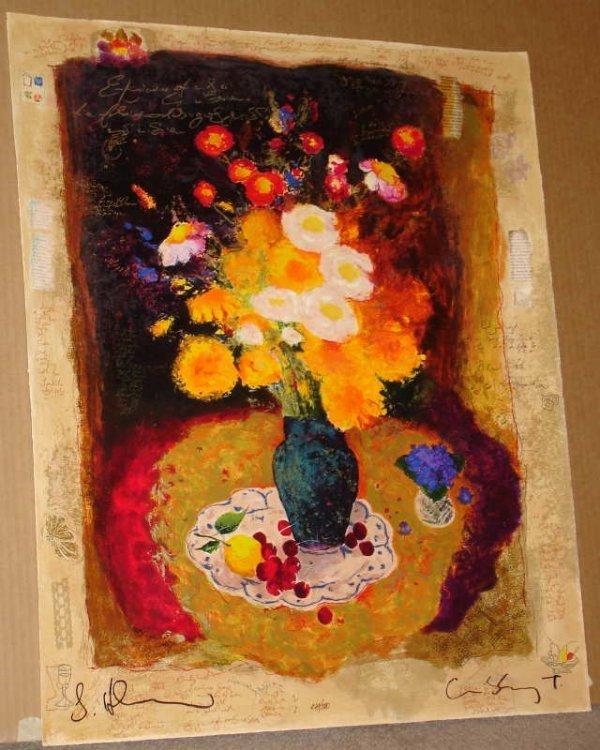 972: Alexander Wissotsky, Flowers in the Dark, Signed S