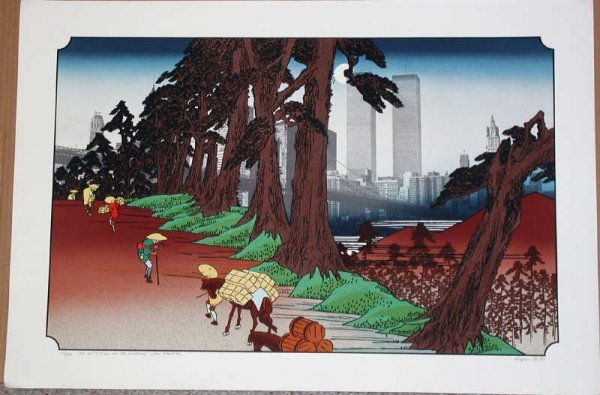 982: Michael Knigin, 26th Station, Signed Lithograph
