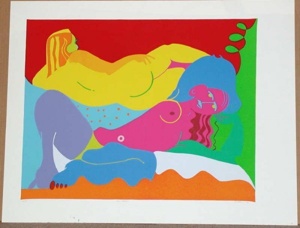 222: Robert Bertone, Sunbathers, Signed Serigraph