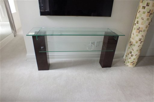 Roche Bobois Consolle.Glass Console Table By Roche Bobois