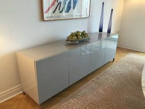 Modern Lacquer Credenza Cabinet on legs