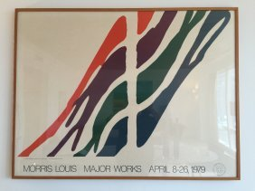 Morris Louis Major Works Exhibition Poster