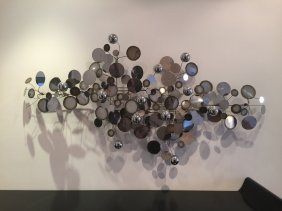 "Curtis Jere Wall Sculpture ""raindrops"""