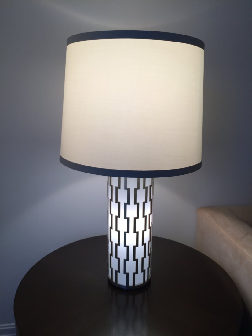 Pair of Modern Designer Lamps by Boyd