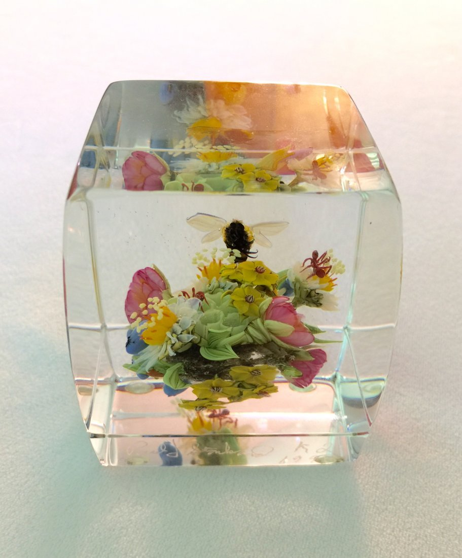 Paul Stankard Botanical Paperweight