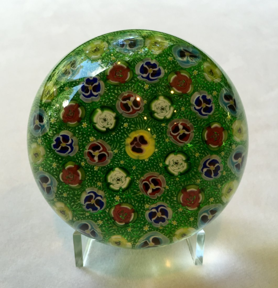 Parabelle Concentric Space Millefiori Glass Paperweight
