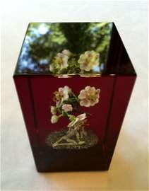 Paul Stankard Glass Botanical Paperweight