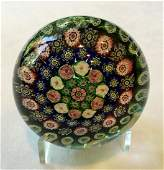 Clichy Concentric Millefiori Glass Paperweight