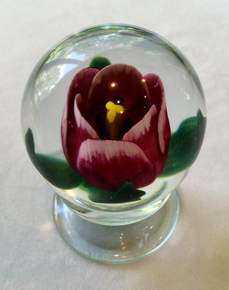 Charles Kaziun Jr. Glass Pedestal Paperweight