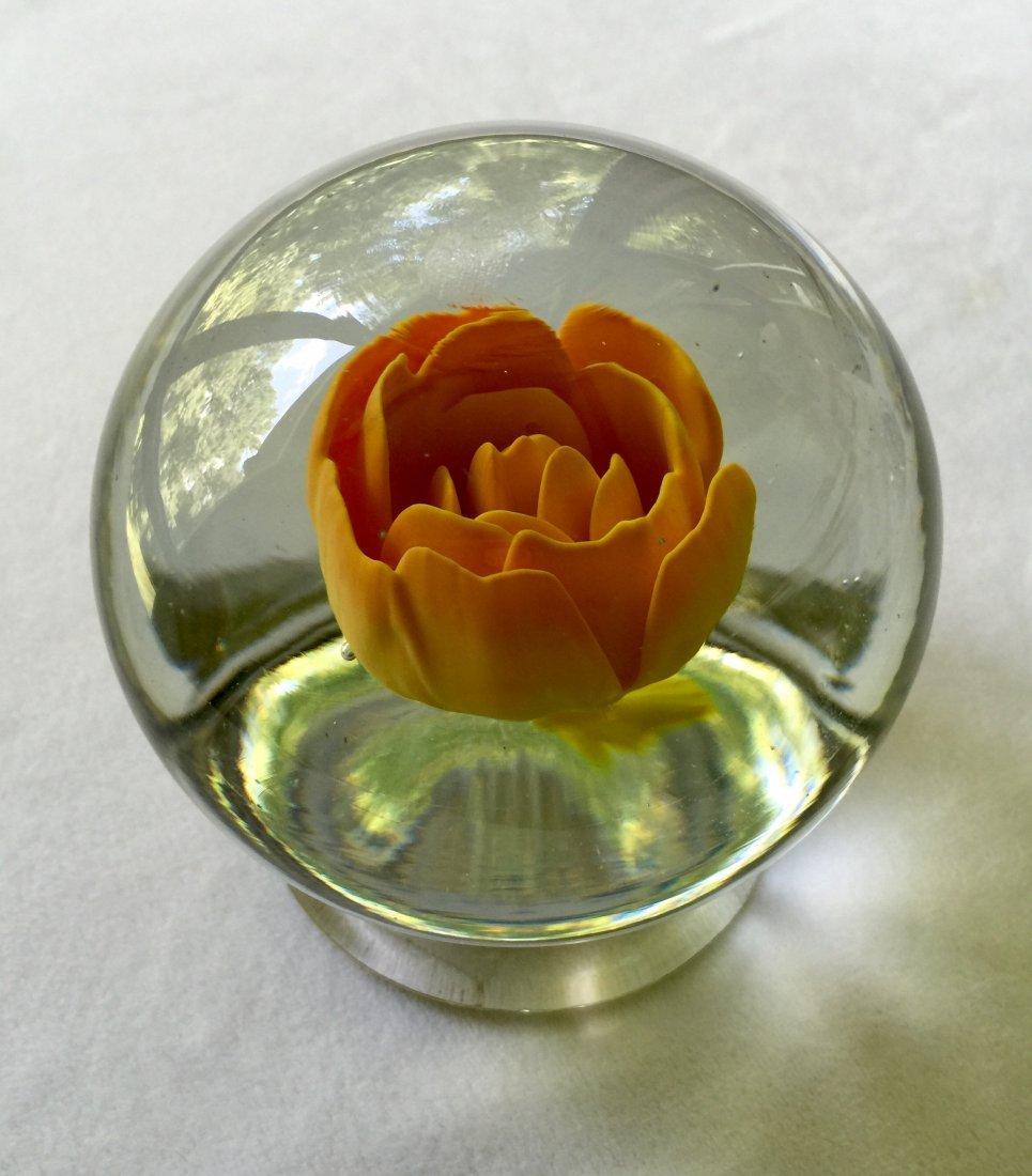 Millville Glass Pedestal Paperweight