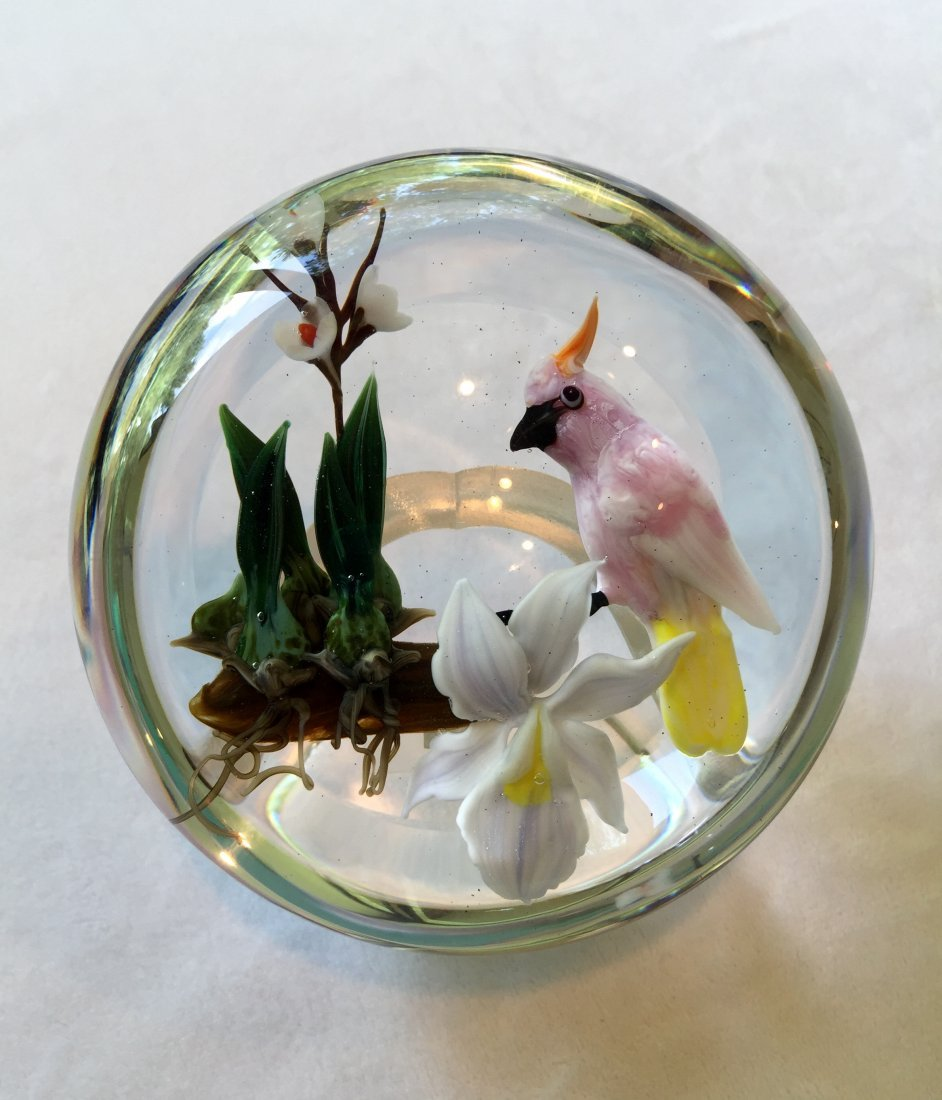 Rick Ayotte Glass Paperweight