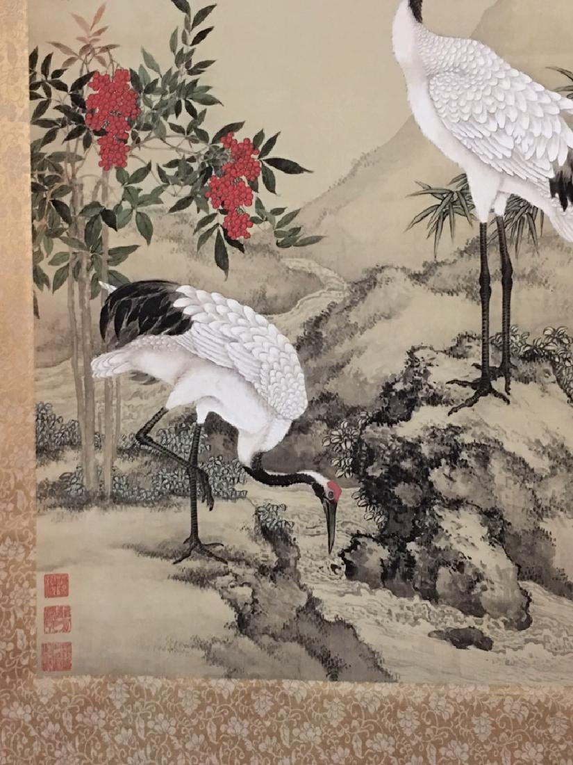 Chinese Watercolor Painting with birds - 3