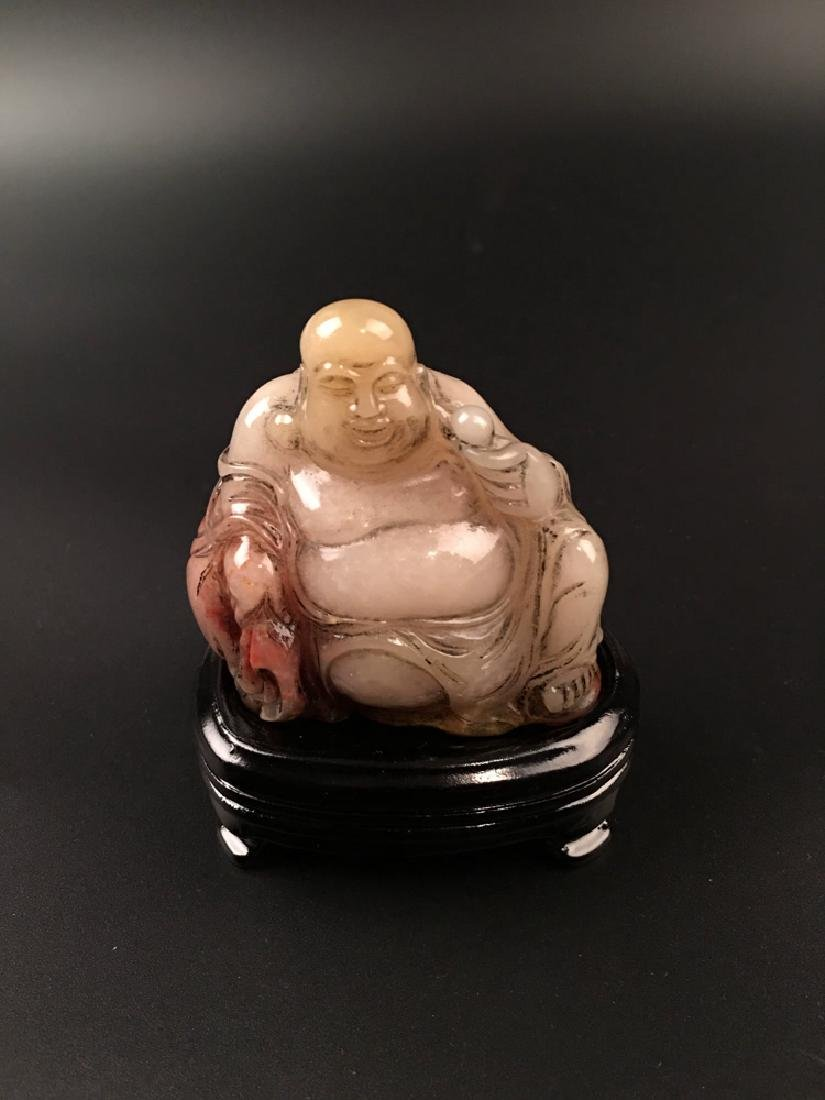 Chinese Shoushan Seated Happy Buddha