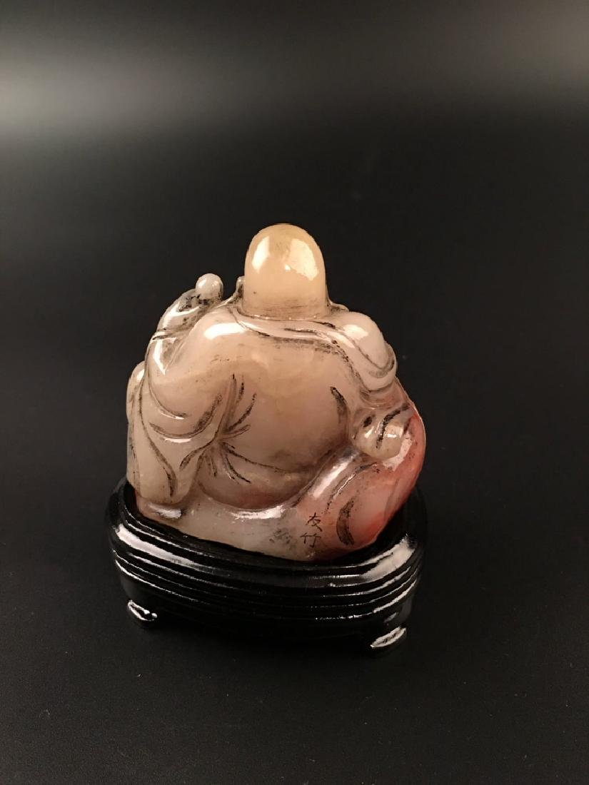 Chinese Shoushan Seated Happy Buddha - 2