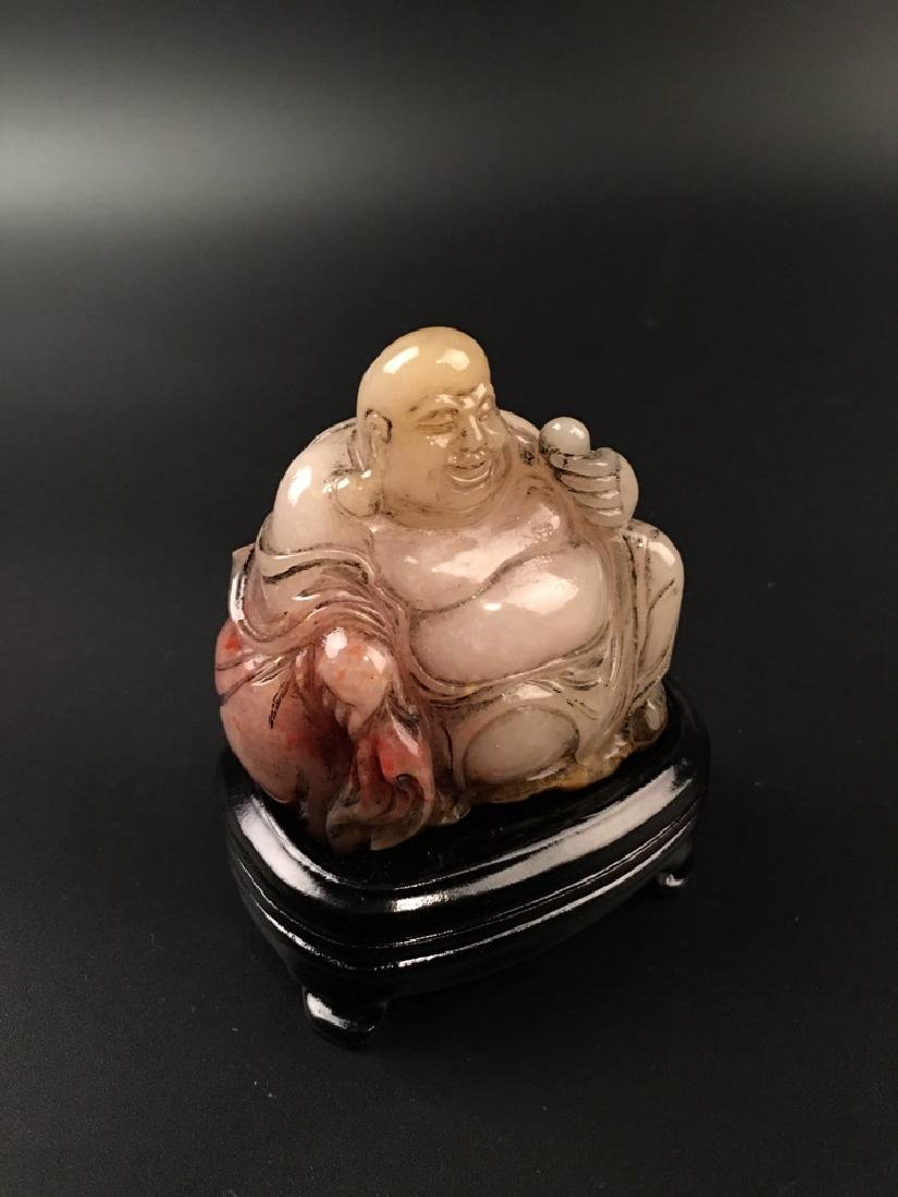 Chinese Shoushan Seated Happy Buddha - 3