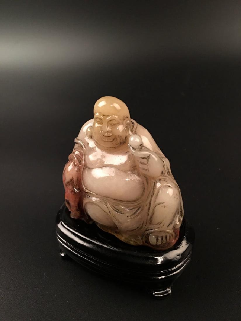 Chinese Shoushan Seated Happy Buddha - 4