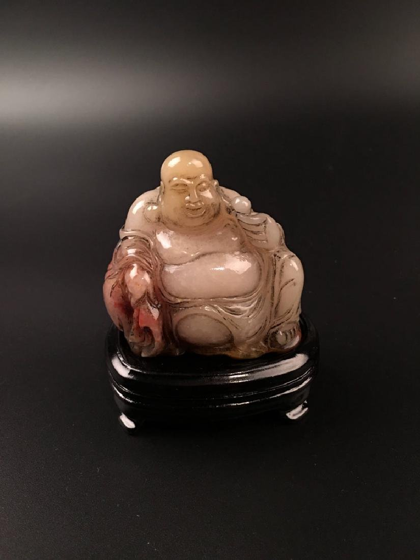 Chinese Shoushan Seated Happy Buddha - 6