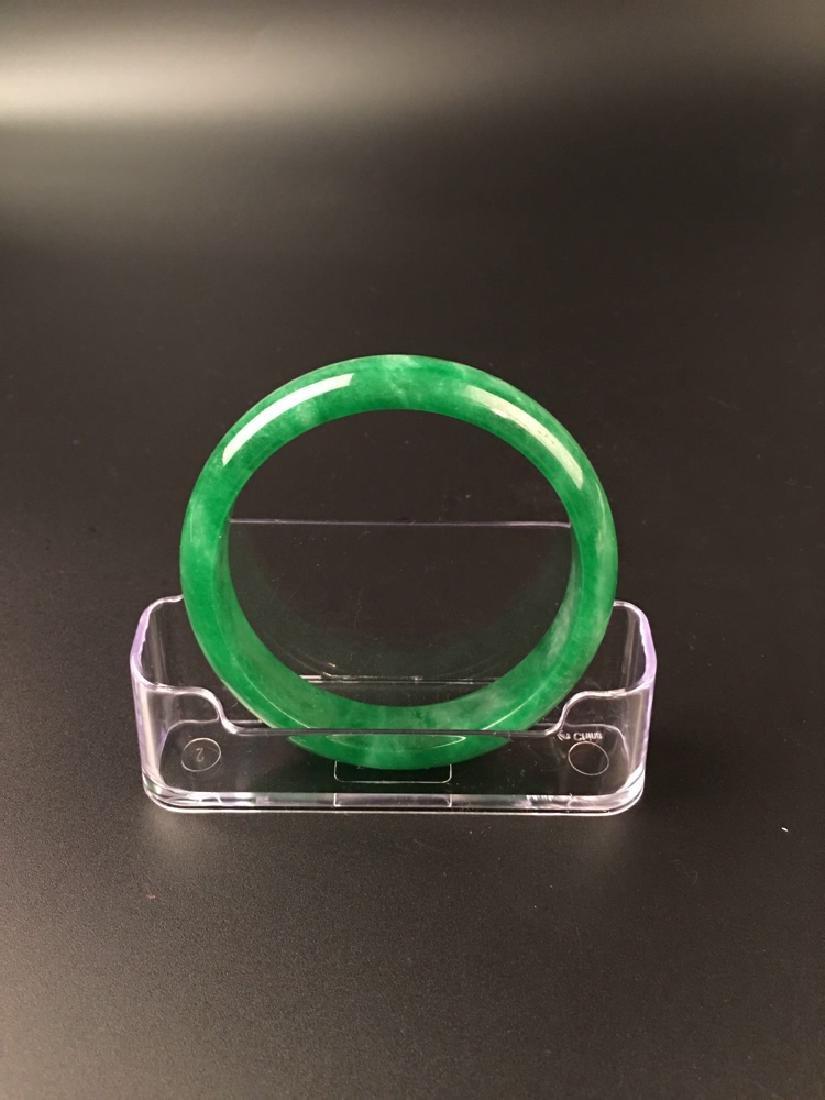 Chinese Green Jadeite Bangle - 4
