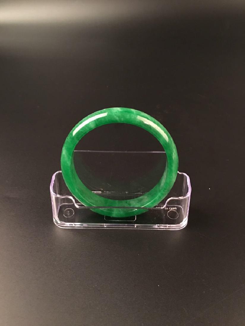 Chinese Green Jadeite Bangle - 6