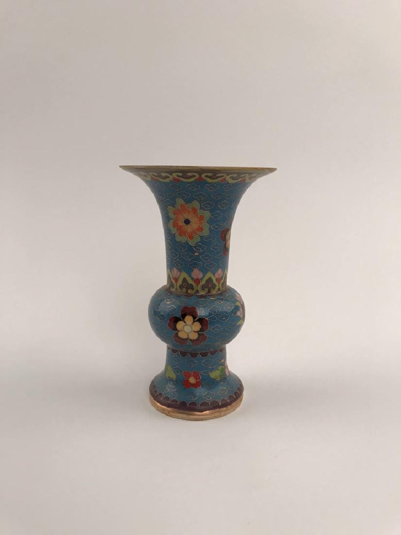 Chinese Closionne and Porcelain Vase