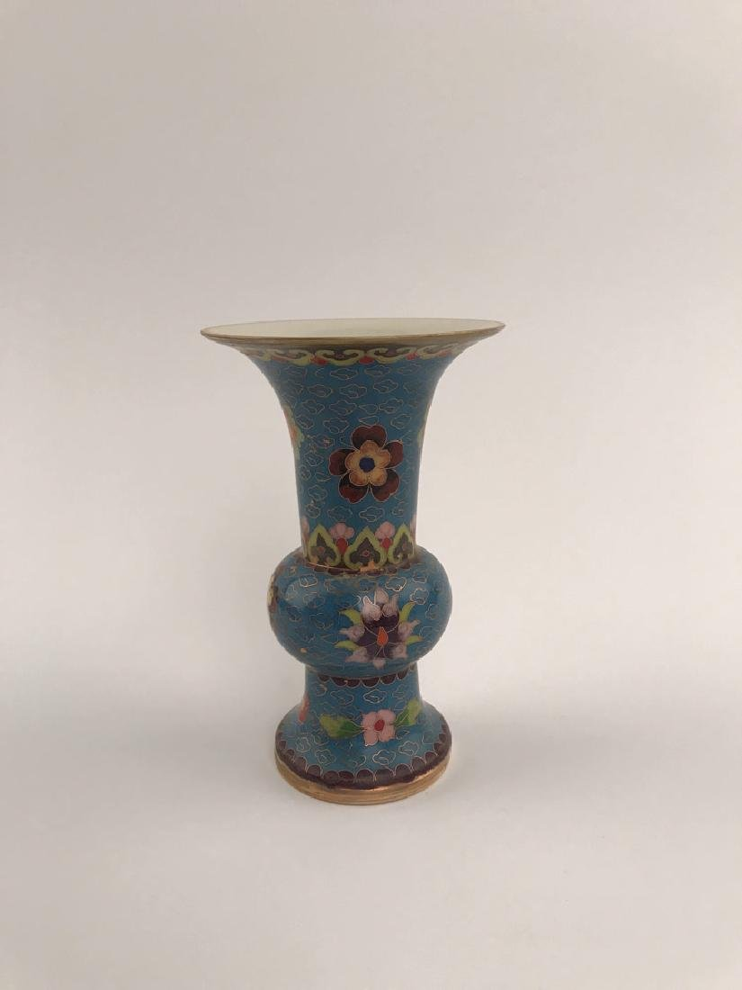 Chinese Closionne and Porcelain Vase - 2