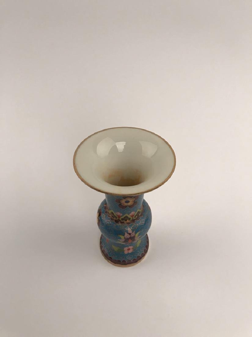 Chinese Closionne and Porcelain Vase - 3